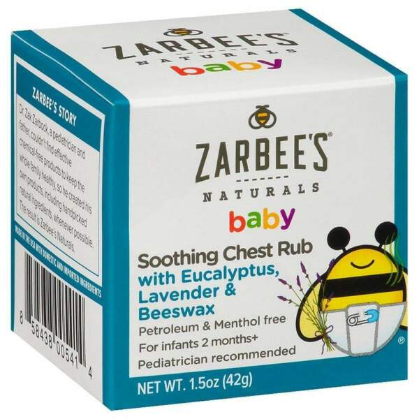 Set Of 2 Zarbee S Naturals Baby Soothing Chest Rub For