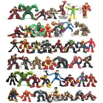 Random Pick 10pcs Marvel Super Hero Squad Spider-man VENOM X-Men Iron Man Figure