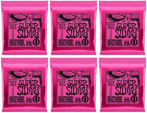 Ernie-Ball-Super-Slinky-Nickel-Wound-Cordes-guitare-pack-de-6-jeux