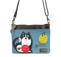 Charming Chala Fat Cat Chubby Kitten Mini Crossbody Bag Handbag Purse