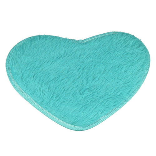 Heart Shaped 40*28cm Non-slip Bath Coral Fleece Carpet Mat Kitchen Home Decor