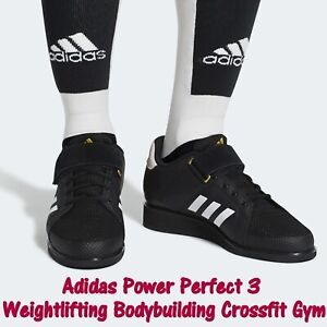 Details about Adidas POWER PERFECT 3 Weightlifting BB6363 Black Bodybuilding Crossfit Gym