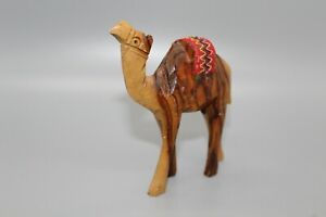 Olive-Wood-Camel-With-Red-Saddle-Hand-Carved-Holy-Land-Jerusalem