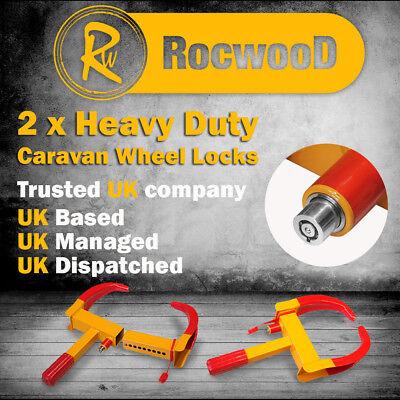 Trailer Wheel Clamp Heavy Duty Caravans Trailers Claw Security Lock 8 10 Inch