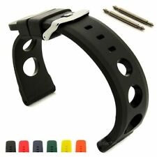 Perforated Silicone Rubber Watch Strap Band, Waterproof Resin 18 20 22 24 SH MM