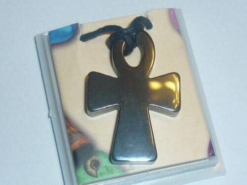 cristalloterapia PENDENTE CIONDOLO amuleto CROCE EMATITE COLLANA talismano terra