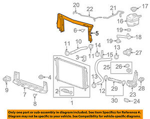 Gm Oem Radiator Upper Deflector 25799031 Ebay