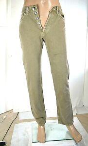 Jeans Uomo Pantaloni CARRERA SA585 Dritto Grigio/Marrone Tg 46 veste piccolo