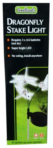 New Goodlands Super Bright Led Dragonfly Stake Light For Garden Lawn Decoration