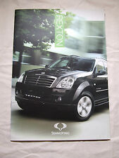 SSANGYONG REXTON 270 S 270 EX  FULL SALES BROCHURE 10 PAGES 2013 ISH