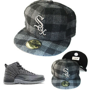 Details about New Era MLB Chicago Whitesox 5950 Grey Fitted Hat Nike Air  Jordan 12 Wool Cap 5d183101f82
