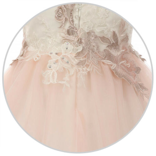 IVORY CHAMPAGNE Flower Girl Dress Birthday Formal Pageant Recital Wedding Party
