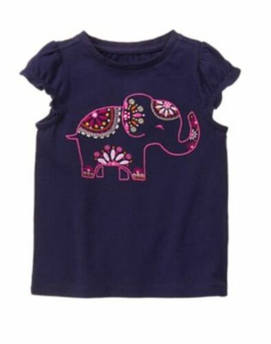NWT Gymboree Girls Spice Market Elephant Top Navy Blue 18-24M 2T Toddler Girl