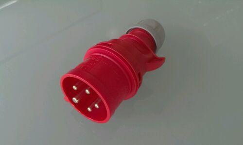 PCE CEE Stecker 16A IP44 Drehstrom Starkstrom Stecker 16A rot CEE-Stecker rot