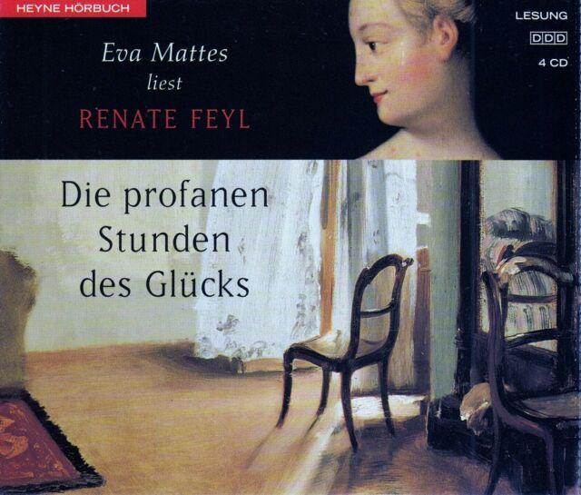 RENATE FEYL : DIE PROFANEN STUNDEN DES GLÜCKS / 4 CD-SET (HÖRBUCH) - TOP-ZUSTAND