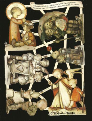 German Embossed Scrap Die Cut Children Hummel Figurine Designs  EF7507