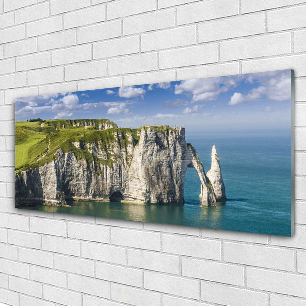 Impression sur verre Wall Art 125x50 Photo Image Rocher Mer Paysage