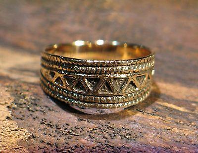"Ring Bronze  Mittelalter Wikinger Kelten Slaven Germanen ""Northern Light"""