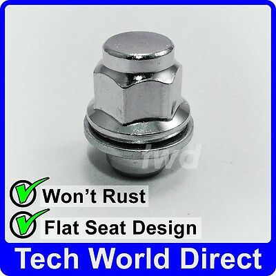 Chrome Locking Nuts for Ḿitsubishi Shogun Pinin with Aftermarket Alloy Wheels Part No.N11237
