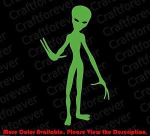 ALIEN-Sticker-Funny-Car-Window-Vinyl-Decal-Cool-Vinyl-Laptop-UFO-I-Believe-FY025
