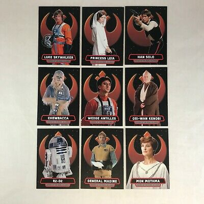 Star Wars Rouge One Mission Briefing Set Heroes Of The Rebel Alliance 9 Cards