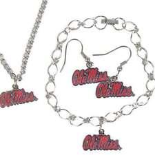 Ole Miss Rebels Snap Jewelry Various styles Stretch Ring Earrings Bracelet