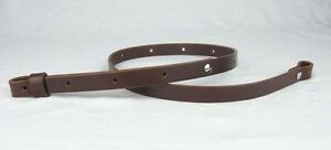 LEATHER-RIFLE-SLING-EUROPEAN-STYLE-GUN-3-4-034-WIDE-adj-30-034-to-42-034-Dark-Brown