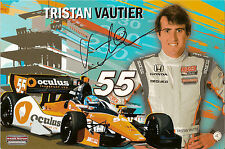 2013 TRISTAN VAUTIER signed INDIANAPOLIS 500 PHOTO CARD POSTCARD INDY CAR HONDA