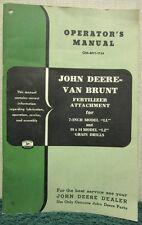 John Deere Van Brunt Fertilizer Attachment Operators Manual Om M11 1154
