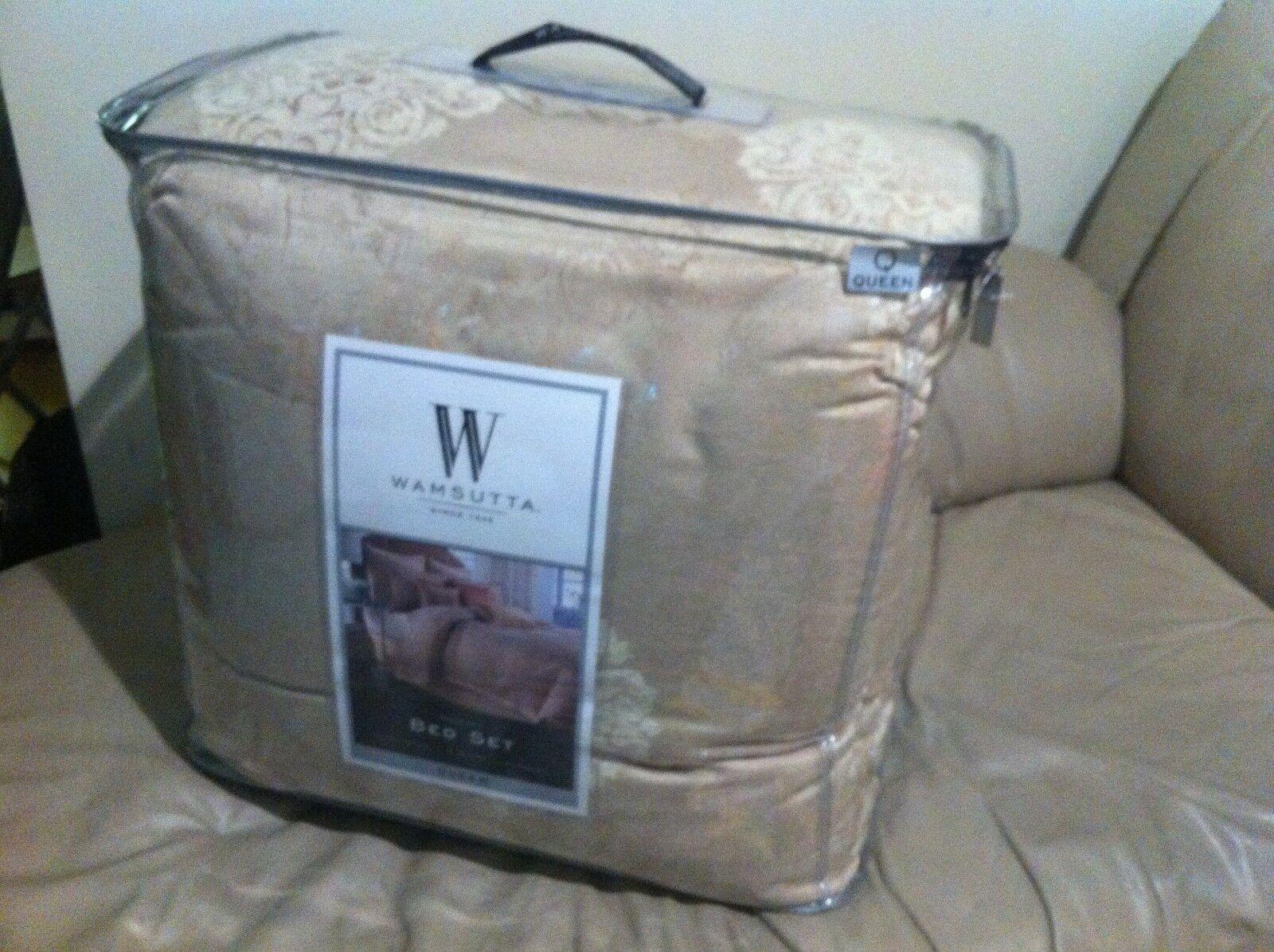 New Wamsutta MADEIRA 4PC Comforter Shams Bedskirt Bed Set Queen Dimensione