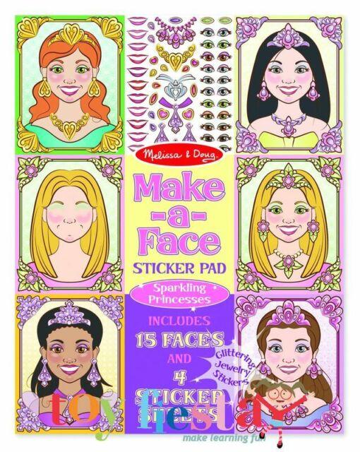 Melissa and Doug Make-a-Face - Sparkling Princesses