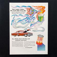 1952 SHELL OIL Boris Artzybasheff Unique Artwork vintage print ad large magazine