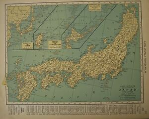 Antique 1929 frameable color map japan kyushu shikoku honshu image is loading antique 1929 frameable color map japan kyushu shikoku gumiabroncs Gallery