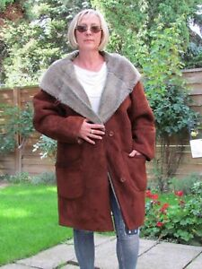 WOMENS-XXL-XXXL-Shearling-Lambskin-Sheepskin-Baby-Lamb-Coat-Jacket-Ladies-D3270