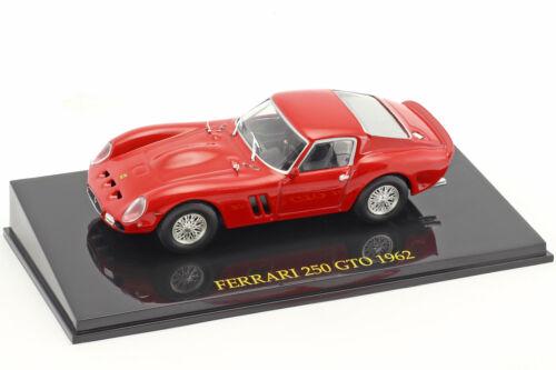 Ferrari 250 GTO Jahr 1962 rot mit Vitrine 1:43 Altaya