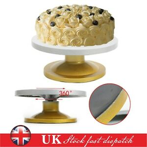 Cake Decorations Home Bargains : 30cm Heavy Duty Kitchen Turntable Cake Stand Icing ...