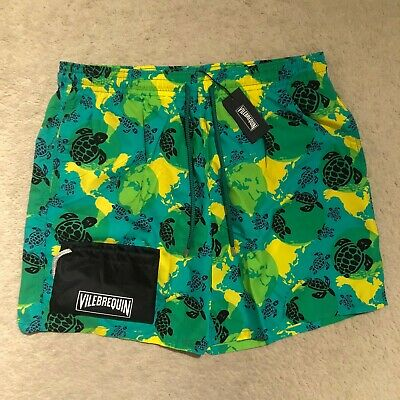 Vilebrequin Mens Swim Shorts Moorea Classic Cut Moana Worldmap Turtle Ebay