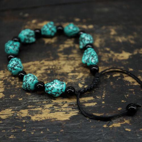 Joli Bracelet en Perles de Turquoise d/'imitation Bracelet réglable