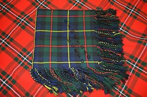 McLeod of Hunting McLeod Tartan 4 Way Purled & Fringed Bagpipers Kilt Fly Plaids
