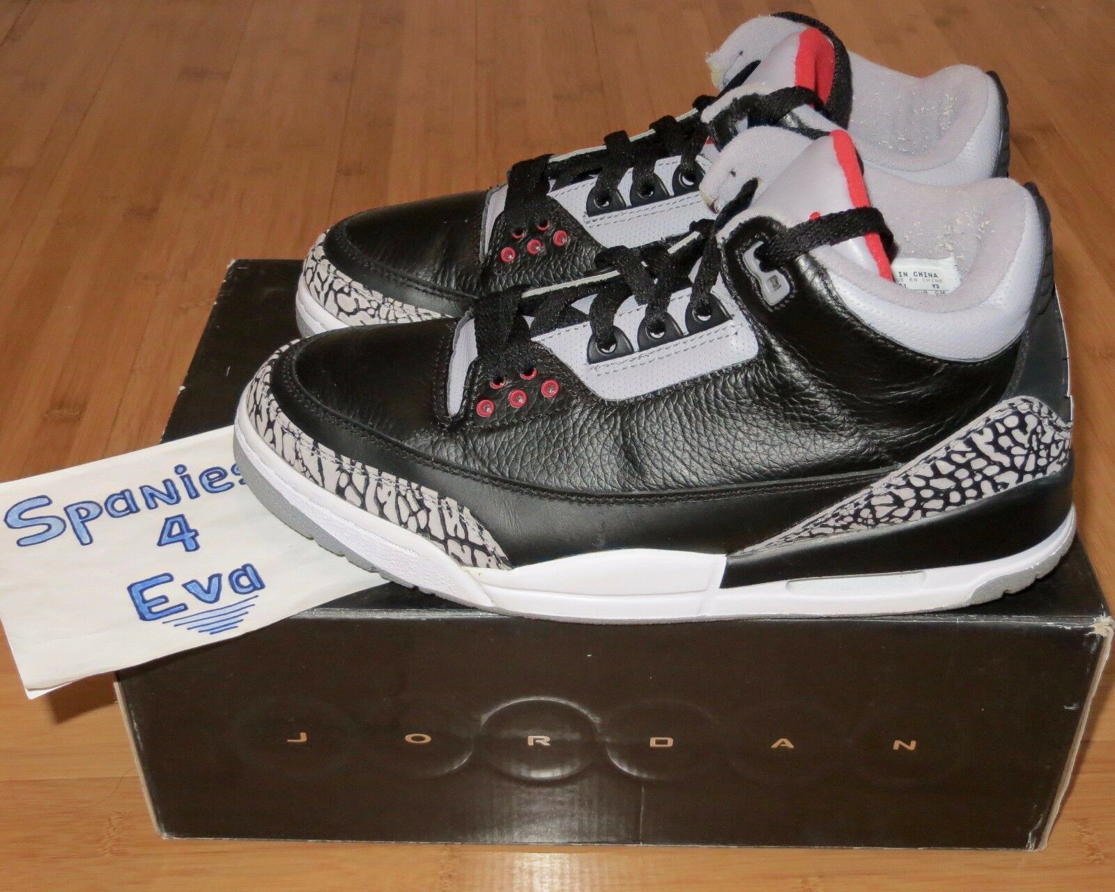 Nike Air Jordan 3 III Retro Black Cement Count Down Pack CDP Size 9.5 340254-061