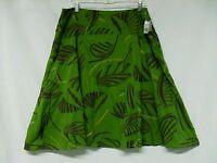 Kenar Skirt Size 14 Green Tropical Print