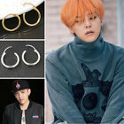 2 Pairs New Simple Ear Stud Hoop Stylish Lovers Earring Fallow Liberality Gift
