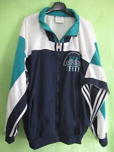 Détails sur Veste Adidas 90'S marine verte Vintage Jacket Football Sport 186 XL