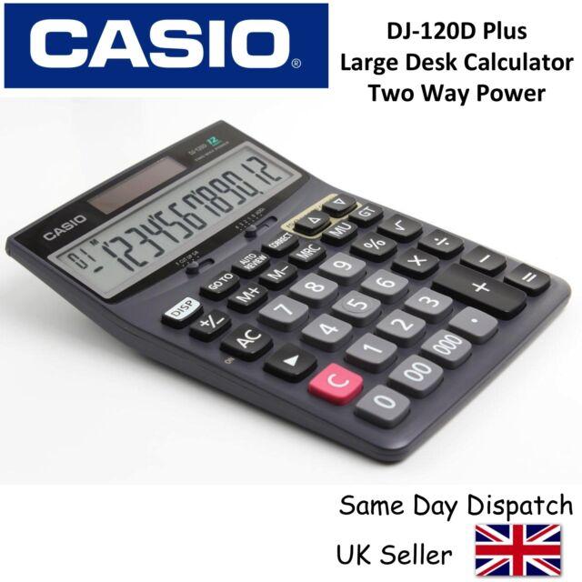 Casio DJ-120D Plus Desk Office Business Calculator Desktop Big Size 12 Digits