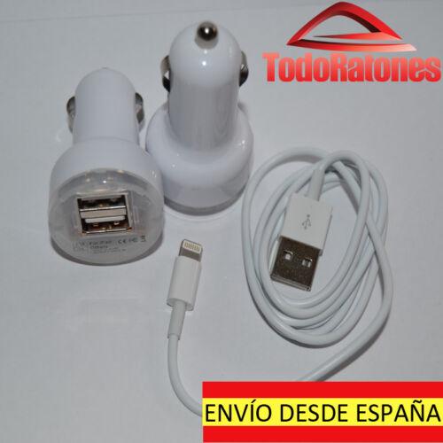 cargador coche dual mechero doble usb iphone 4 5 G 6 plus 5G archos lenovo tab 2