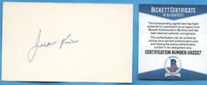 JUAN-RIOS-1969-ROYALS-RARE-SIGNED-3X5-INDEX-CARD-BECKETT-G62227