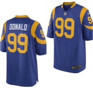 a13fd949 Nike OnField #99 Aaron Donald Los Angeles Rams Football Jersey Men ...