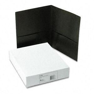 New Avery Black Two-Pocket Folder - 25pk - Free Shipping