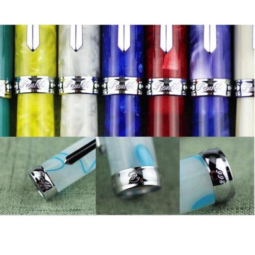 Luxury PENBBS 308 Acrylic China Fountain Pen Smooth Fine 0.5mm Nib Writing Hot