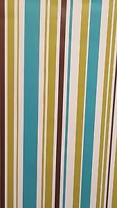 Image Is Loading Teal Lime Green Brown Striped Stripes Stripey Barcode